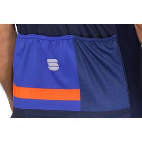 Sportful Team 2.0 Drift Maillot de cyclisme Homme, twilight blue/blue cosmic/orange sdr